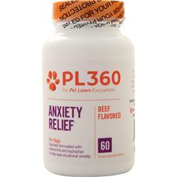 PL360 Anxiety Relief for Dogs Beef Flavored 60 tabs