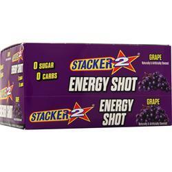 Nve Pharmaceuticals Stacker 2 Energy Shot Grape 12 bttls