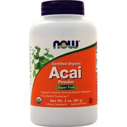 Now Certified Organic Acai Powder 3 oz