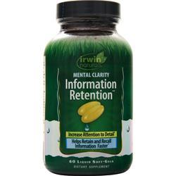 Irwin Naturals Mental Clarity Information Retention 60 sgels
