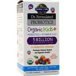 Garden Of Life Dr. Formulated Probiotics - Organic Kids + 5 Billion Berry Cherry 30 chews
