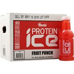 ANSI Protein Ice Ready to Drink (20 fl. oz.) Fruit Punch 12 bttls