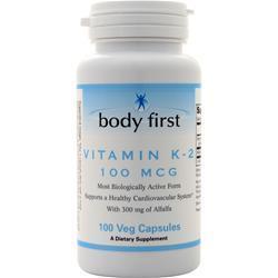 Body First Vitamin K-2 (100mcg) 100 vcaps