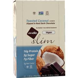 Nugo Nutrition Slim Vegan Bar Toasted Coconut 12 bars