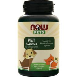 Now Pets Pet Allergy for Dogs/Cats 75 tabs