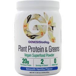 Genesis Today Plant Protein & Greens Vegan Superfood Smooth Vanilla 1.09 lbs