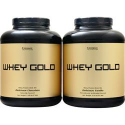 Ultimate Nutrition Whey Gold (Buy 1 Get 1 Free) Chocolate/Vanilla 10 lbs