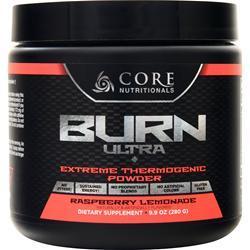 Core Nutritionals Burn Ultra - Extreme Thermogenic Powder Raspberry Lemonade 280 grams