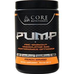 Core Nutritionals Pump - Pre Workout Peach Mango 297 grams