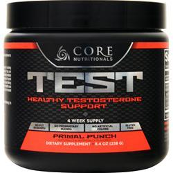 Core Nutritionals Test Powder Primal Punch 238 grams