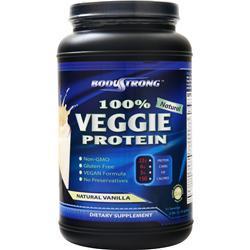 BodyStrong 100% Veggie Protein Natural Vanilla 2.5 lbs