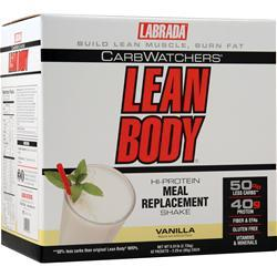 Labrada Lean Body Carb-Watchers Shake Vanilla 42 pckt