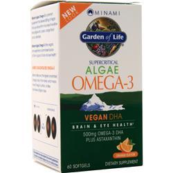 Garden Of Life Minami Supercritical Algae Omega-3 Vegan DHA Orange 60 sgels