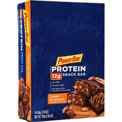 PowerBar Protein Snack Bar Caramel Nut Brownie 15 bars