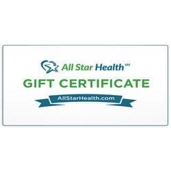 all star health e gift certificate on sale at allstarhealth com