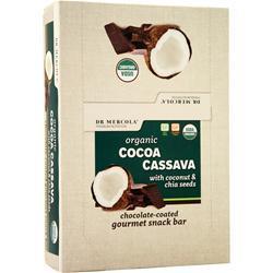 Dr. Mercola Organic Cocoa Cassava Snack Bar With Coconut & Chia Seeds 12 bars