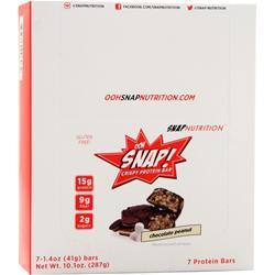 Snap Nutrition Ooh Snap! Crispy Protein Bar Chocolate Peanut 7 bars