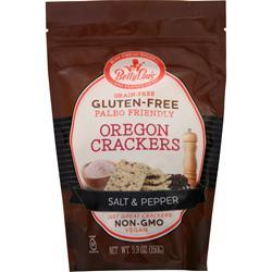Betty Lou's Gluten Free Oregon Crackers Salt & Pepper BEST BY 9/13/19 5.3 oz
