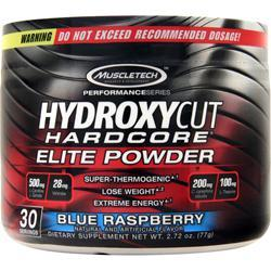 Muscletech Hydroxycut Hardcore Elite Powder Blue Raspberry 77 grams