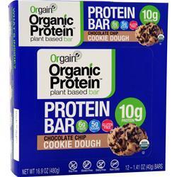 Orgain Organic Protein - Plant Based Bar Choc. Chip Cookie Dough 12 bars