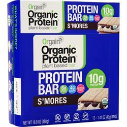 Orgain Organic Protein - Plant Based Bar S'mores 12 bars