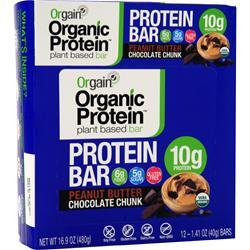 Orgain Organic Protein - Plant Based Bar Peanut Butter Choc. Chunk 12 bars