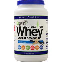 Orgain Grass Fed Whey Protein Powder Vanilla Bean 1.82 lbs