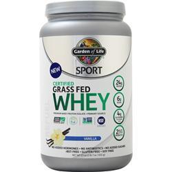 Garden Of Life Sport - Certified Grass Fed Whey Vanilla 23 oz