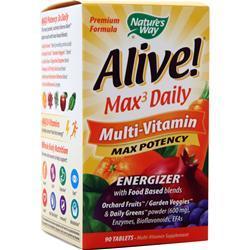 Nature's Way Alive! Max3 Daily Multi-Vitamin - Max Potency 90 tabs