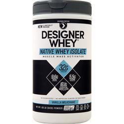 Designer Protein Native Whey Isolate Vanilla Milkshake 1.85 lbs