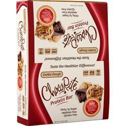 HealthSmart Foods Choco Rite Protein Bar Cookie Dough 12 bars