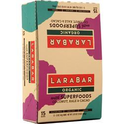 Lara Bar Organic Bar Coconut, Kale & Cacao 15 bars