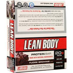 Labrada Lean Body Protein Bar Fudge Brownie 12 bars