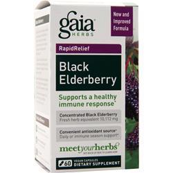 Gaia Herbs Rapid Relief - Black Elderberry 60 vcaps