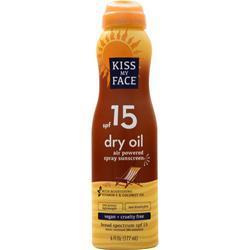 Kiss My Face Dry Oil - Air Powered Spray Sunscreen SPF 15 6 fl.oz