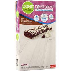 Zone Perfect Revitalize Bar Hot Chocolate Marshmallow BEST BY 8/1/19 12 bars