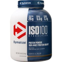 Dymatize Nutrition ISO-100 Cookies & Cream 5 lbs