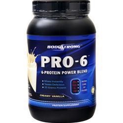 BodyStrong Pro-6 Protein Power Blend Creamy Vanilla 2 lbs