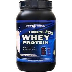 BodyStrong 100% Whey Protein - Natural Unflavored 2 lbs