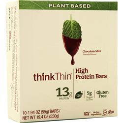 Think Thin Plant Based High Protein Bar Chocolate Mint 10 bars
