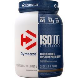 Dymatize Nutrition ISO-100 Cookies & Cream 1.6 lbs