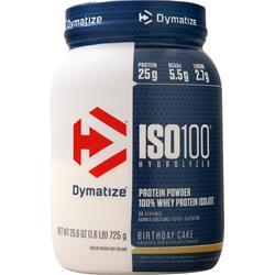 Dymatize Nutrition ISO-100 Birthday Cake 1.6 lbs
