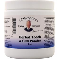Christopher's Original Formulas Herbal Tooth & Gum Powder 2 oz