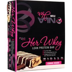 NLA For Her Her Whey - Lean Protein Bar Cookie Dough 12 bars
