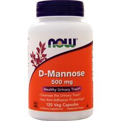 Now D-Mannose (500mg) 120 vcaps