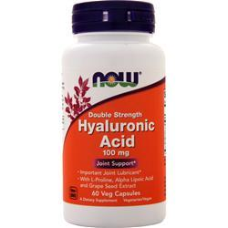 Now Hyaluronic Acid - Double Strength (100mg) 60 vcaps