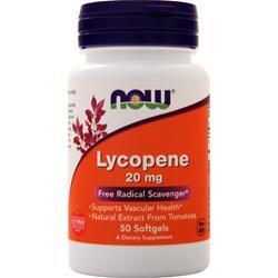 Now Lycopene (20mg) 50 sgels