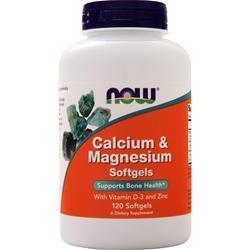 Now Calcium & Magnesium with Vitamin D and Zinc 120 sgels