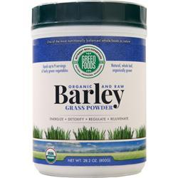Green Foods Barley Grass Powder - Organic and Raw 28.2 oz