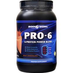 BodyStrong Pro-6 Protein Power Blend Milk Chocolate 2 lbs